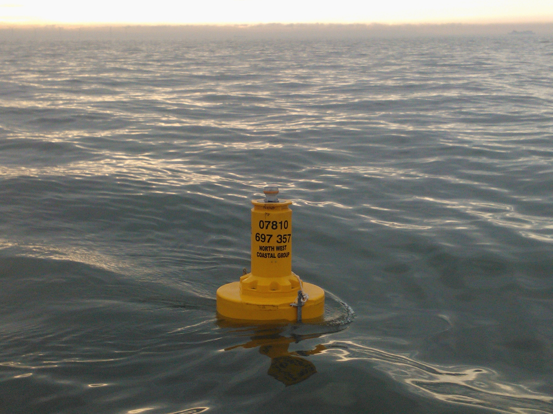 Photo of a deployed wave rider bouy